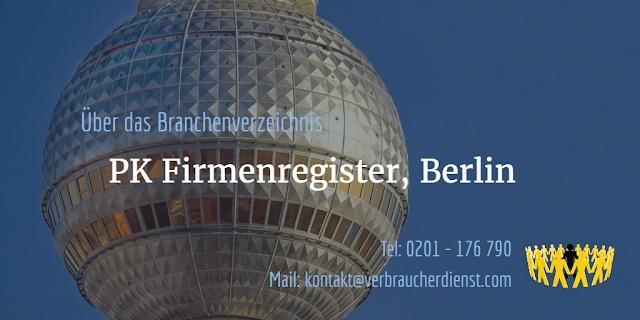 PK Firmenregister aus Berlin – 200 EUR für einen Firmeneintrag