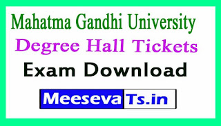 Mahatma Gandhi University (MGU)Degree Hall Tickets Download