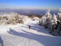 Skiing the Cloud trail at Gore Mountain, an intermediate trail off the 3,600 foot summit.  The Saratoga Skier and Hiker, first-hand accounts of adventures in the Adirondacks and beyond, and Gore Mountain ski blog.