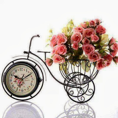 watch with pink roses