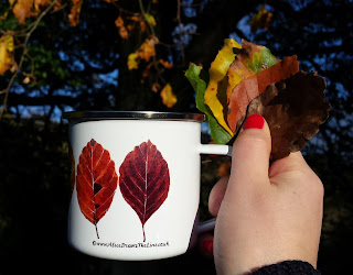 Leaves Enamel mug by Alice Draws The Line