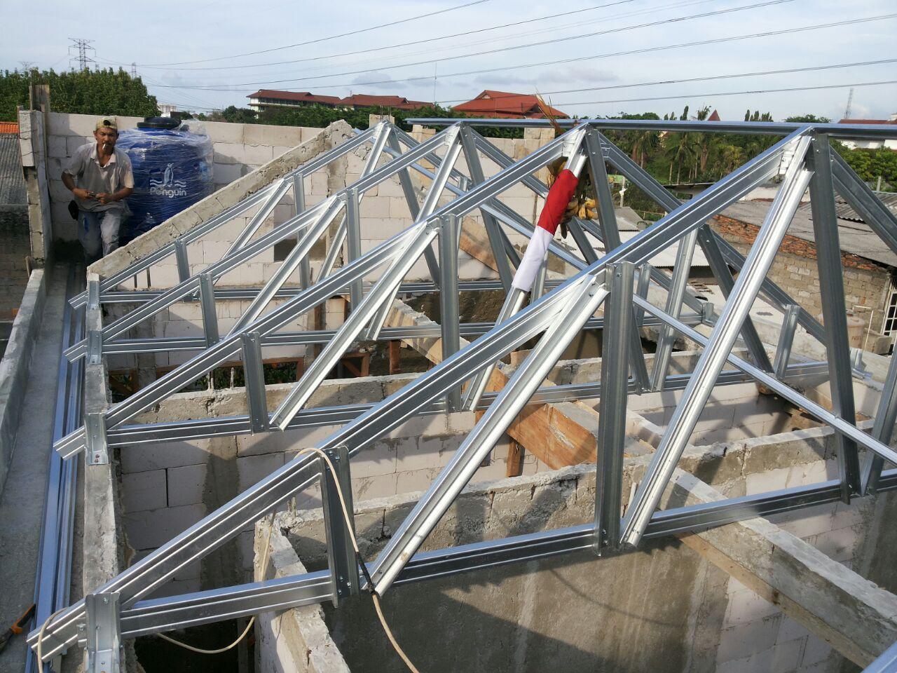 jasa pemasangan baja ringan bekasi pasang atap 0857 1768 1534 harga