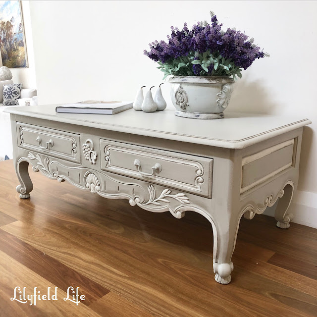 french style coffee table - hand painted by lilyfield life