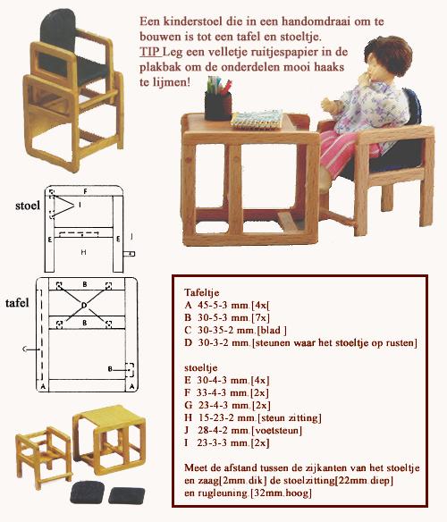 Kinderstoel Tafel Stoel.Minidesign Kinderstoel Of Tafel Stoeltje