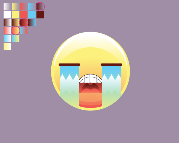 Bagaimana Menggambar Set Emoticon di Adobe Illustrator (Menangis)