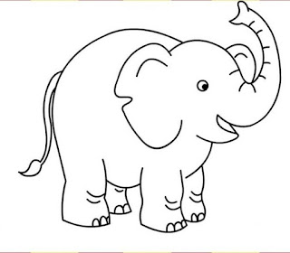 Elephant Coloring Pages For Print