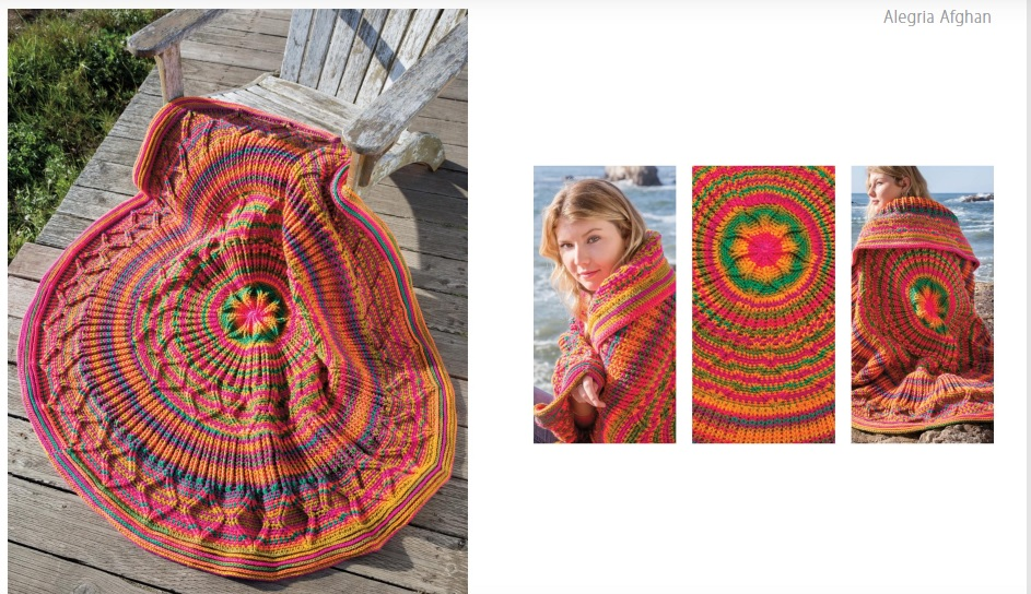 Alegria Crochet afghan pattern for spring