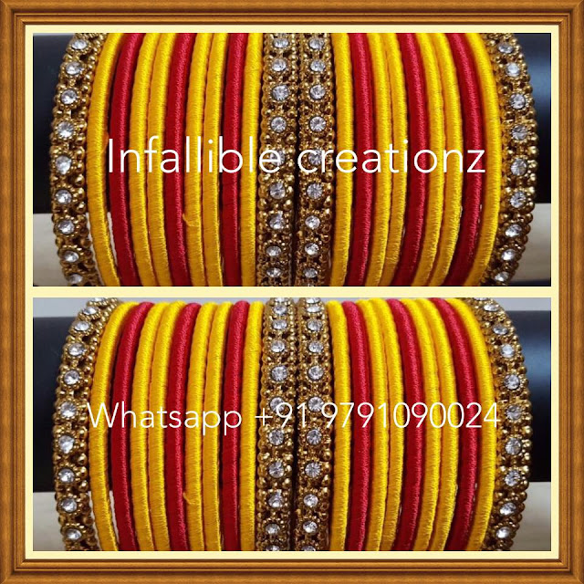 Silk%2BThread%2BBangles%2BBridal%2BSet%2B6 Silkthread Bridal Bangles