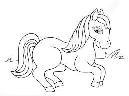 Download Mewarnai Gambar Kuda Poni