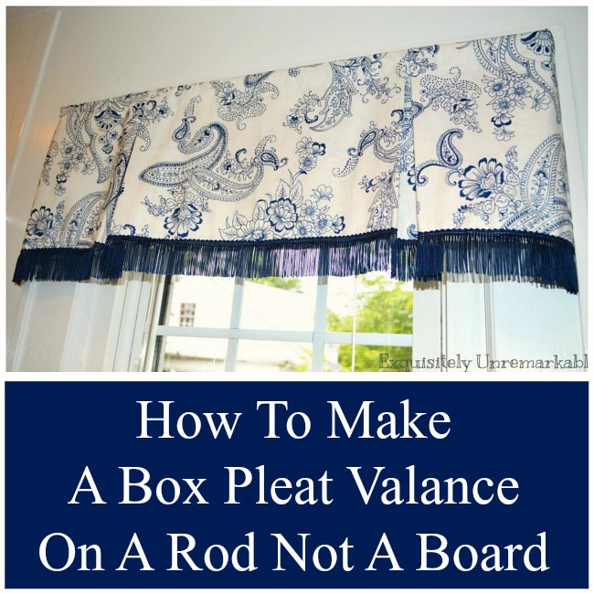 Homemade Valances For Windows : How to make a box pleat valance exquisitely unremarkable