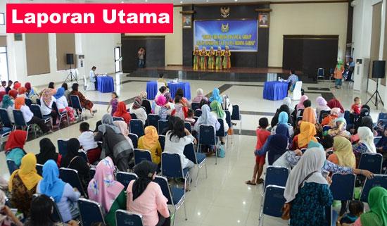 LOMBA VOCAL GROUP : Lomba Vocal Group ini diselenggarakan masih bertema HUT ke 72 TNI yang nertempat di Graha Teddy Kustari. Photo courtesy Kapentak Danlanud Supadio