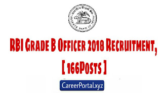RBI Grade B Officer 2018 Recruitment