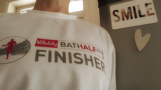 Project 366 2016 day 75 - Bath half finisher's t-shirt // 76sunflowers