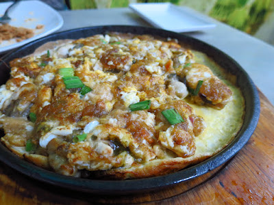 Diandin Leluk, oyster omelette