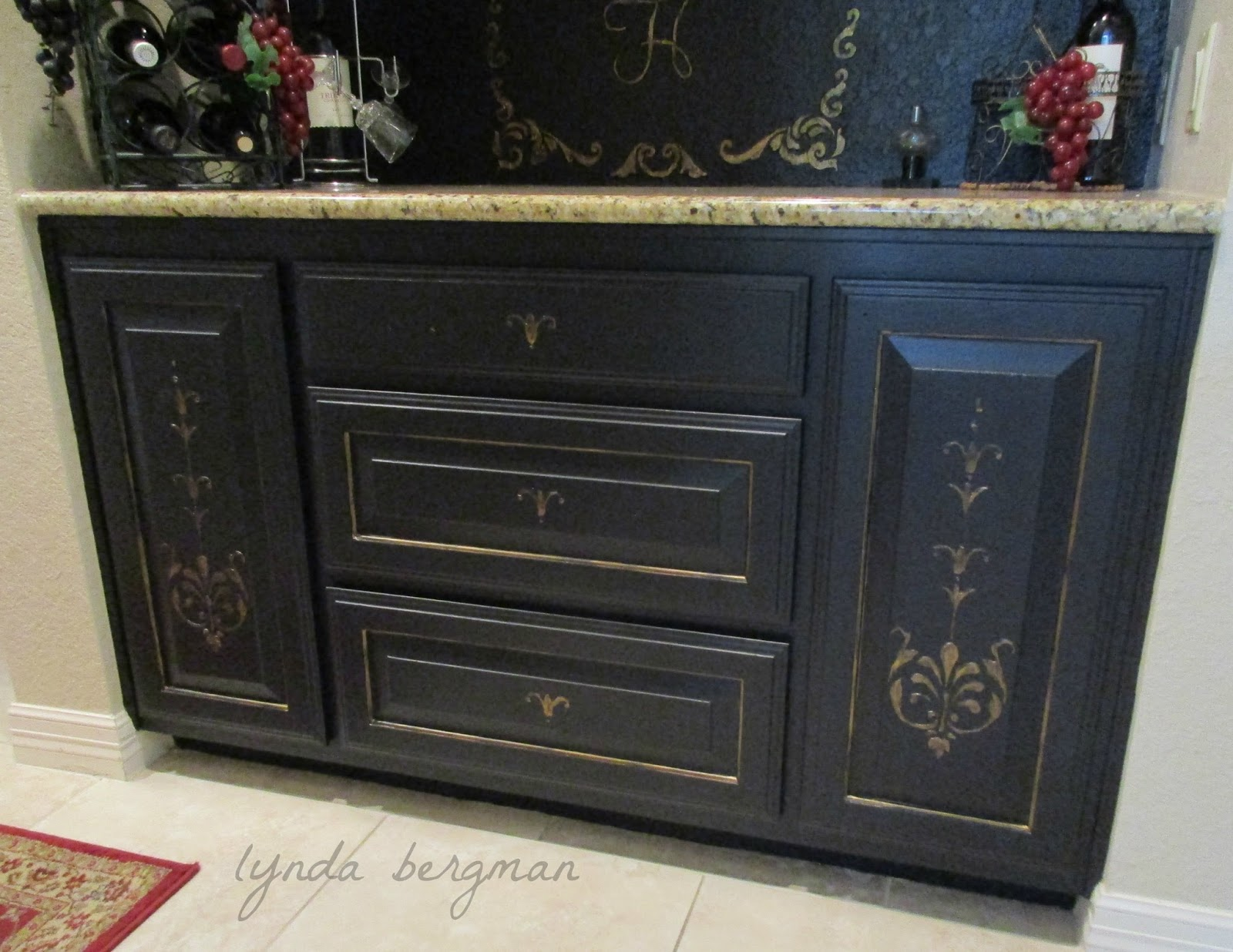 Lynda Bergman Decorative Artisan Painting Cabinets From