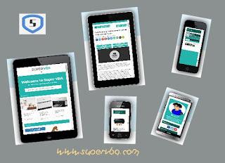 Cek tampilan mobile blog versi mobile