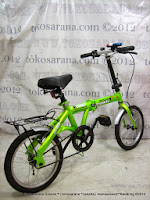 Sepeda Lipat DoesBike DB1601 Convoy 16 Inci - Green + Gratis Klakson Police