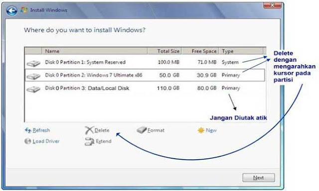 10 - Tutorial Menginstal Windows 7