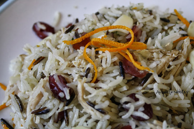 Jewelled wild rice recipe for the holidays from www.anyonita-nibbles.com