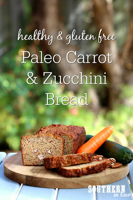 Healthy Paleo Carrot Zucchini Bread Recipe - low fat, gluten free, low sugar, refined sugar free, low carb, dairy free, grain free, paleo recipe