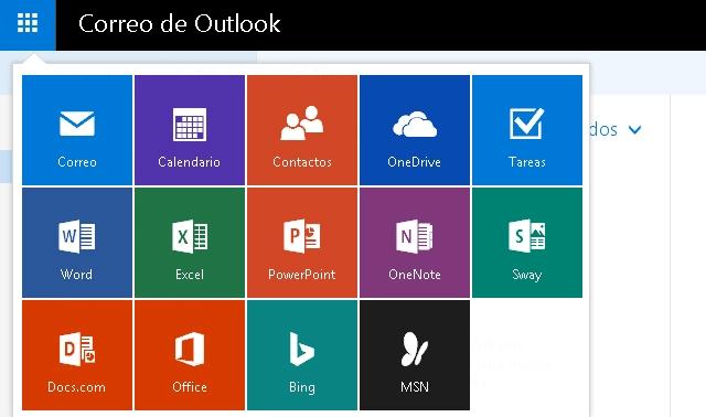 Opciones del correo Outlook