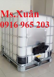 Bồn nhựa trắng ibc 1000 lít, tank nhựa 1000 lít giá rẻ