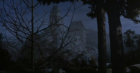 Castle from Hammer's Kiss of the Vampire (1963) matte painting