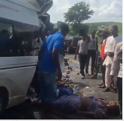 Oh My God! God is Good Motors Heading To Abuja From Onitsha involved in Ghastly Accident (photos)