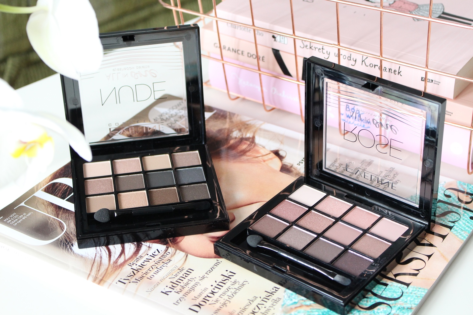 1cd9a4072 Dress Your Face Blog  Eveline - palety cieni All in One Recenzja ...
