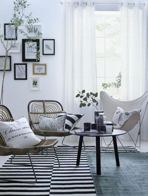 Salón cortina blanca