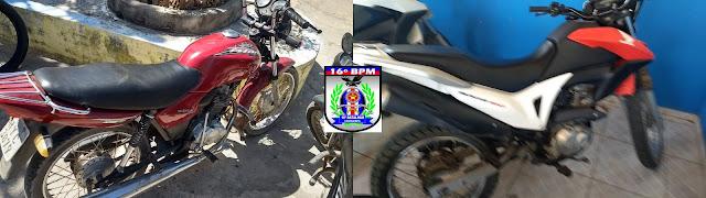 Mais duas motos roubadas são recuperadas por Policiais Militares em Tutóia