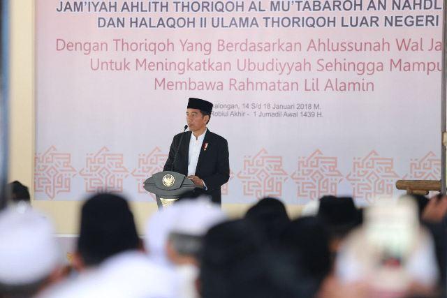 Buka Muktamar JATMAN XII, Presiden Titipkan NKRI kepada Para Kiai