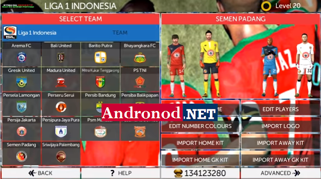 FTS 17 Mod Liga Gojek Traveloka Indonesia Apk+Data Android