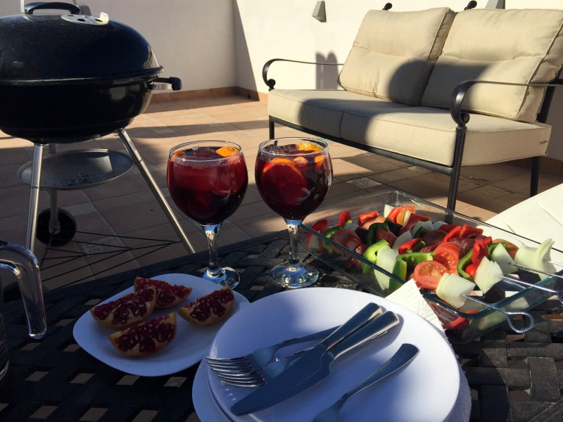 BBQ and sangria on the terrace