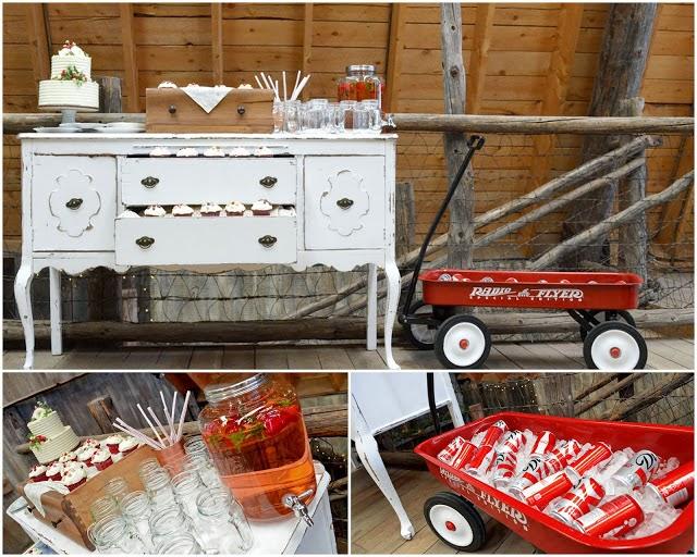 Un Mueble Retro para Tu Candybar o Mesa de Bebidas.