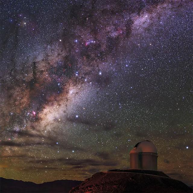 Via Láctea registrada em fotografia feita no observatório  La Silla, no Chile