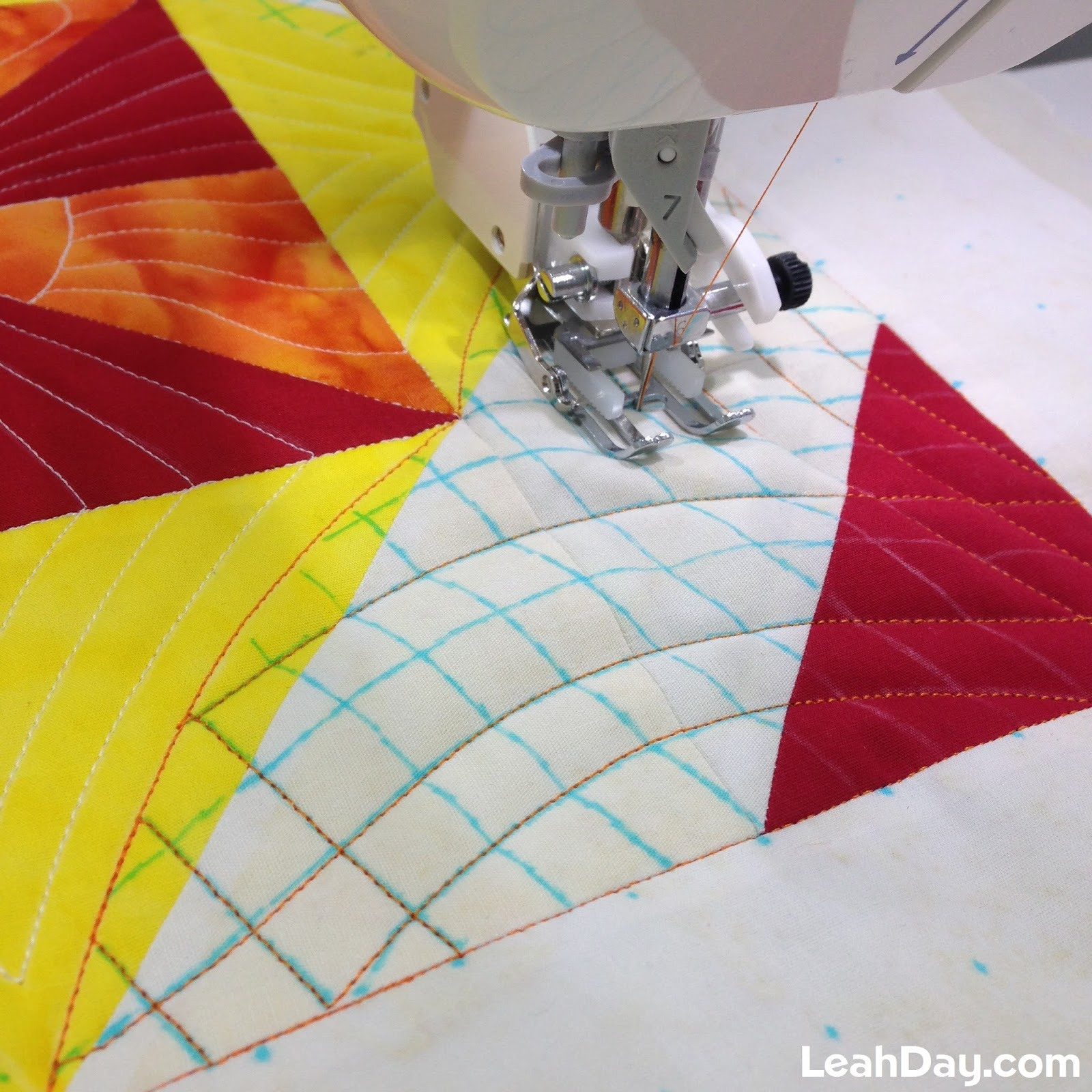 machine quilting with walking foot