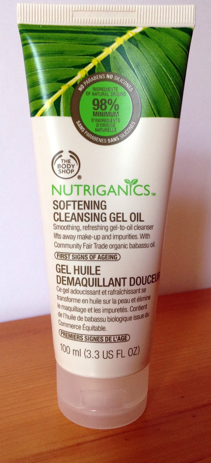Body Shop Nutriganics Softening Cleansing Gel Oil