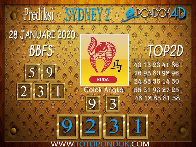 Prediksi Togel SYDNEY 2 PONDOK4D 28 JANUARI 2020