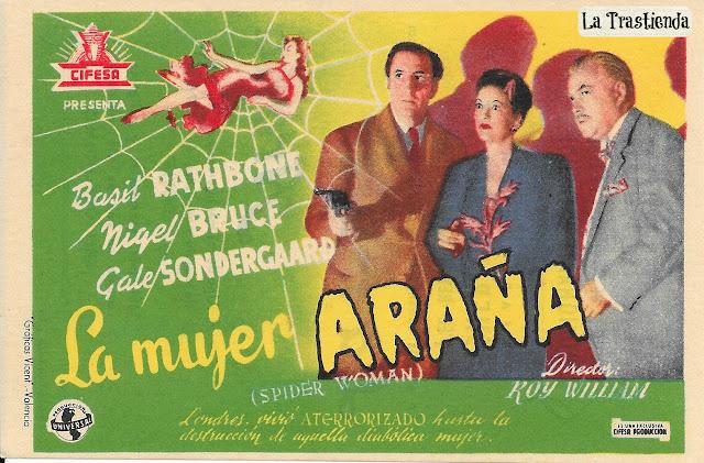 Programa de Cine - La Mujer Araña - Basil Rathbone - Nigel Bruce - Gale Sondergaard