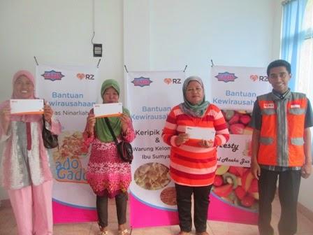 RZ Cilegon Gelontorkan Bantuan Modal Usaha kepada 3 Pedagang Kecil