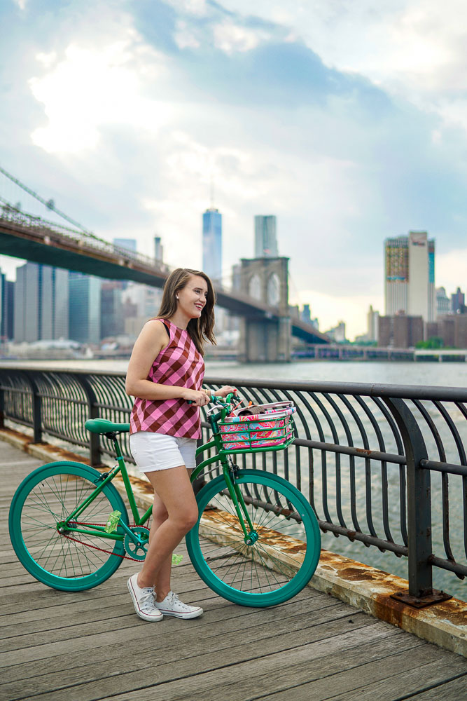 Krista Robertson, Covering the Bases, Travel Blog, NYC Blog, Preppy Blog, Style, Women's Fashion Blog, Fashion, Fashion Blog, Summer Must Haves, Summer Fashion, Brooklyn, NYC, Bike Riding, Brooklyn Bridge, Summer Fashion