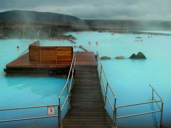 Island Nature Bath Myvatn Reiseglück