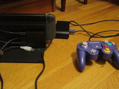 Nintendo Switch Dock back USB port GameCube controller adapter plugs