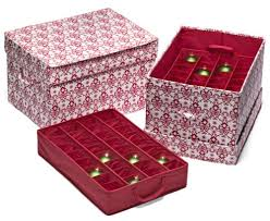 This Christmas Ornament Storage Box Will Organize Your Ornaments In A Sy Cardboard Container