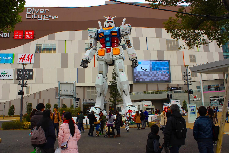 odaiba gundam giant diver city tokyo plaza