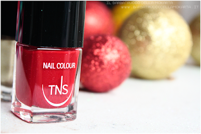 recensione rosso oro best wishes TNS cosmetics nails  red gold Christmas