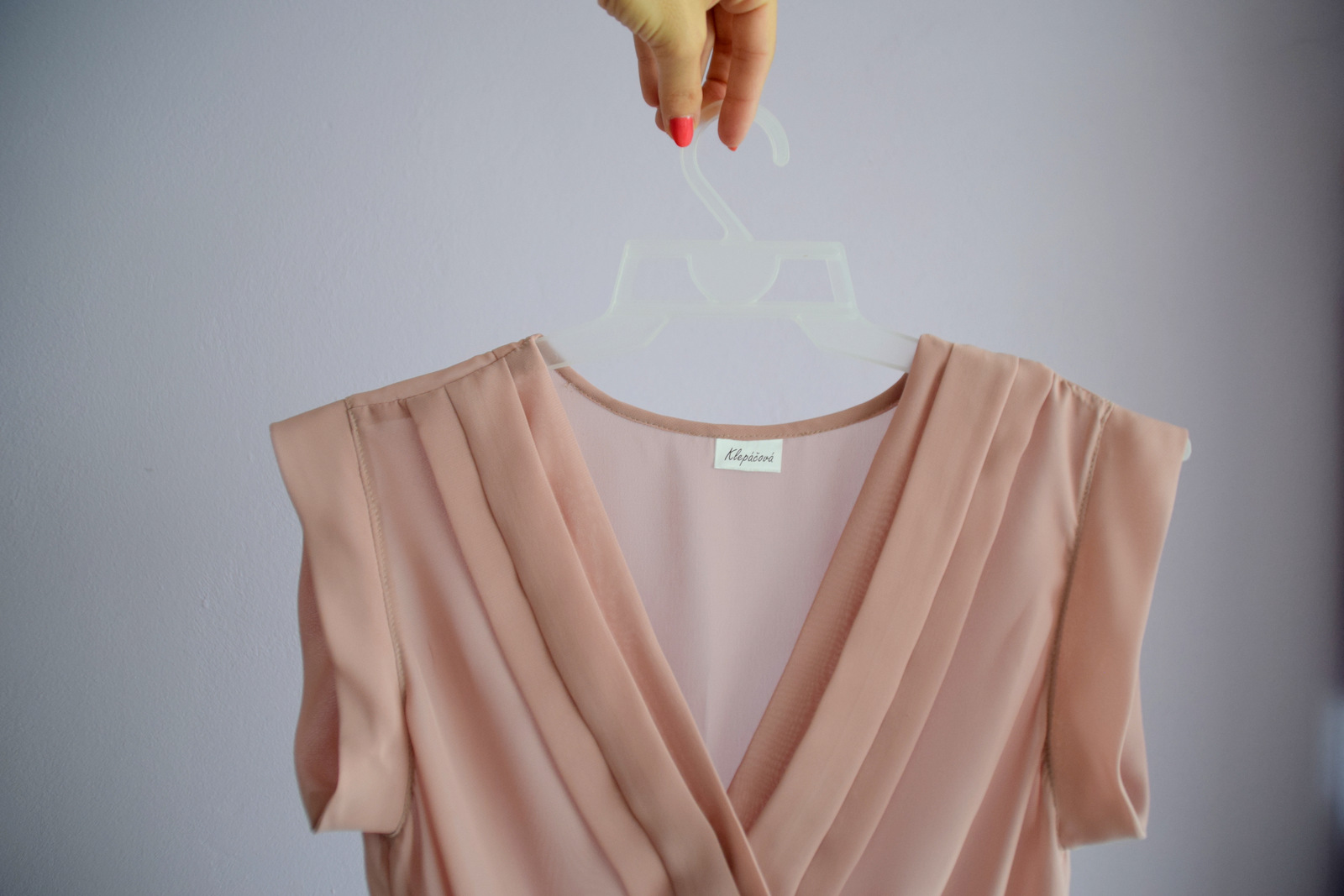 asymetrická handmade blúzka // handmade asymetrical ashes of roses blouse