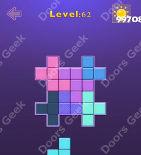 Cheats, Solutions, Walkthrough for Move Blocks Easy Level 62