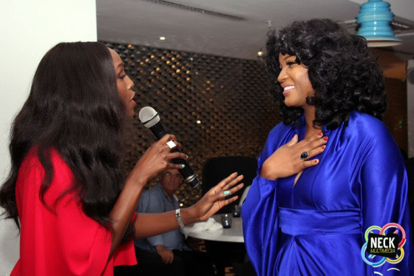 omotola jalade surprise birthday dinner